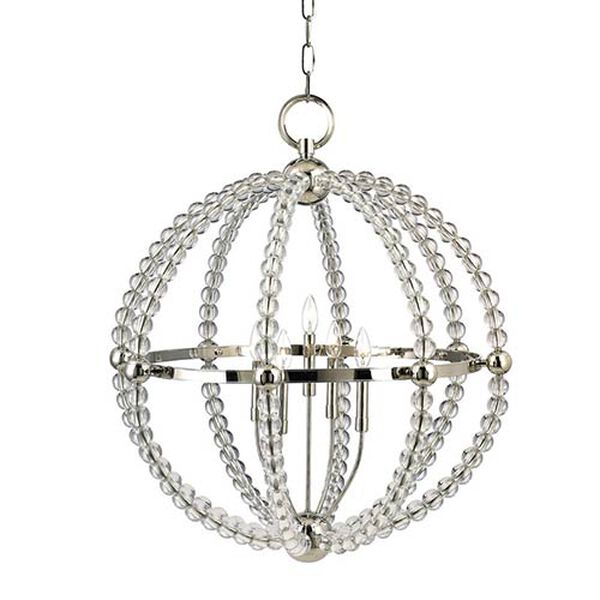 Danville Polished Nickel Three-Light Pendant, image 1