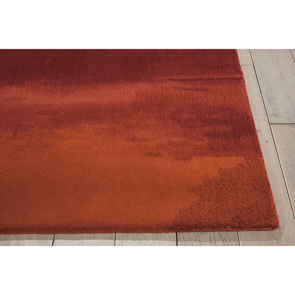 Luster Wash Russet Tones Rust Rectangular: 4 Ft. x 6 Ft. Rug, image 2
