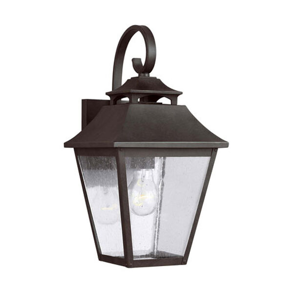 Sutton Black 16-Inch One-Light Outdoor Wall Lantern, image 1
