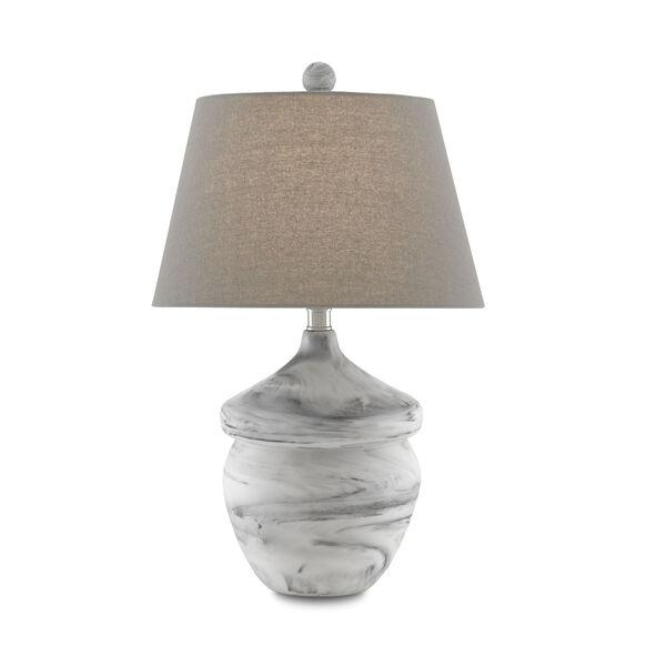 Vitellina White Gray One-Light Table Lamp, image 1