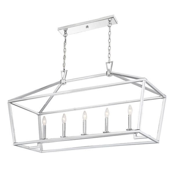 Townsend Polished Nickel Five-Light Pendant, image 5