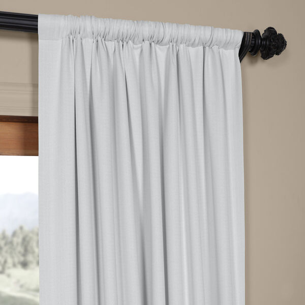 White Oyster 84 x 50 In. Faux Linen Blackout Curtain Single Panel, image 3