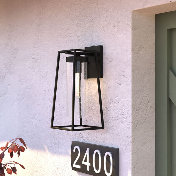 Nash Textured Black Seven-Inch One-Light Outdoor Wall Sconce with Dusk to Dawn Sensor, image 3