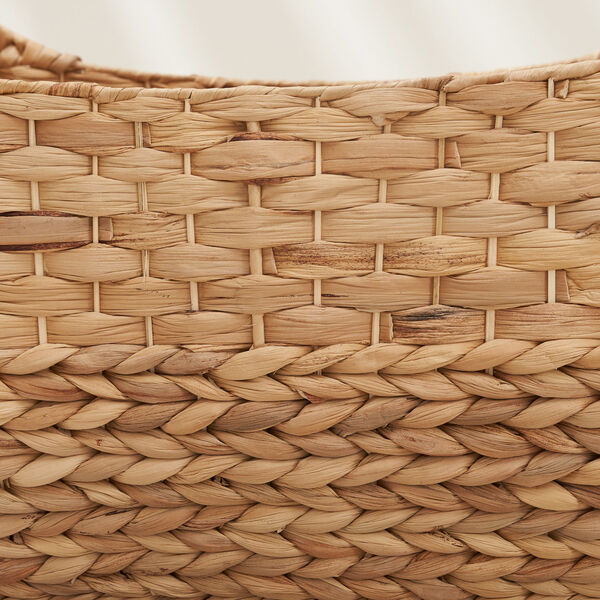 Amelia Sandy Three-Piece Water Hyacinth Picnic and Grocery Basket Set with Handles, image 5