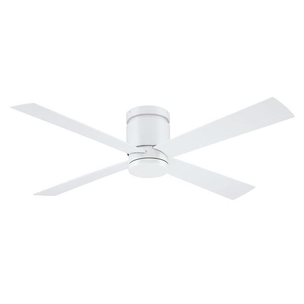 Kwartet Matte White 52-Inch LED Indoor Outdoor Ceiling Fan, image 2