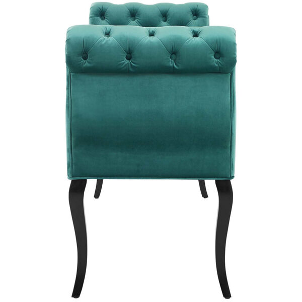 Vivian Chesterfield Style Button Tufted Performance Velvet Bench, image 3