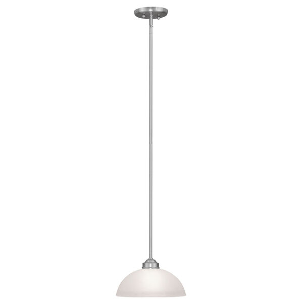 Somerset Brushed Nickel One-Light 11-Inch Pendant with Satin Glass, image 2