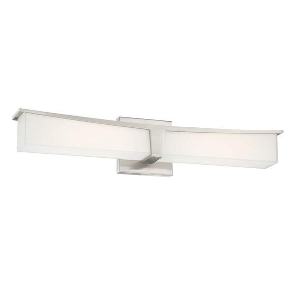 Plane Brushed Nickel 24-Inch LED Bath Bar, image 1