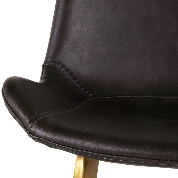 Hines Charcoal Brown and Stainless Gold 26-Inch Counter Height Stool, image 5