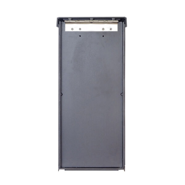 Curbside Black Mailbox with Front and Side Address Numbers and Baldwin Front Single Mounting Bracket, image 2