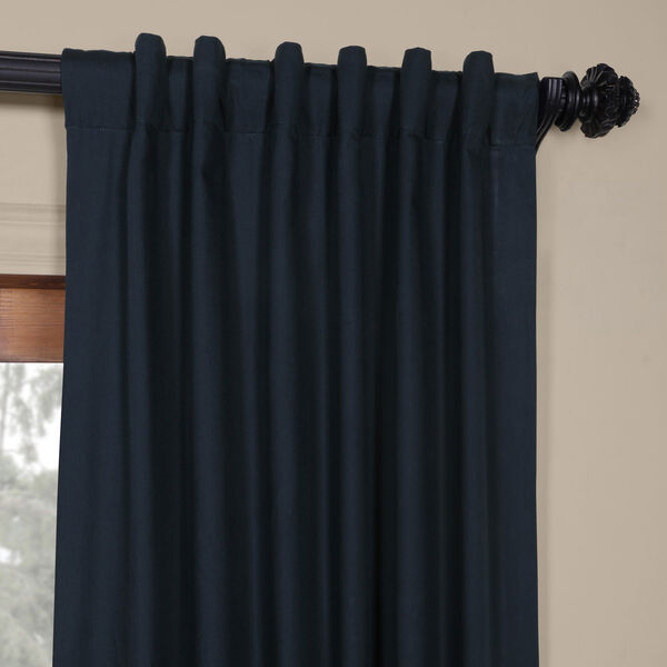 Polo Navy 50 x 84-Inch Solid Cotton Blackout  Curtain, image 9