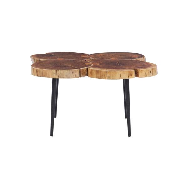 Aurelio Brown and Black Live Edge Small Coffee Table, image 2