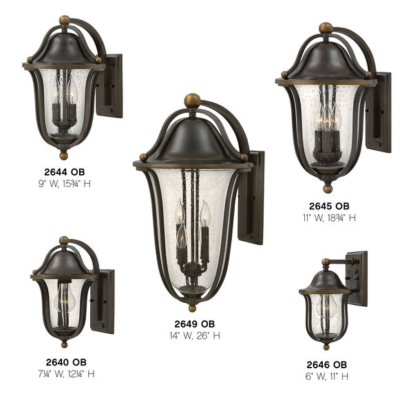 Bolla Olde Bronze Four-Light Outdoor Wall Sconce, image 3