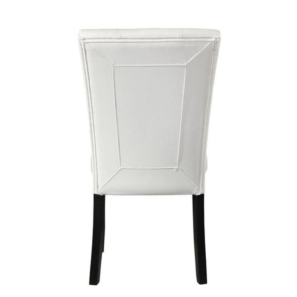 Markina White and Ebony Side Chair, image 5