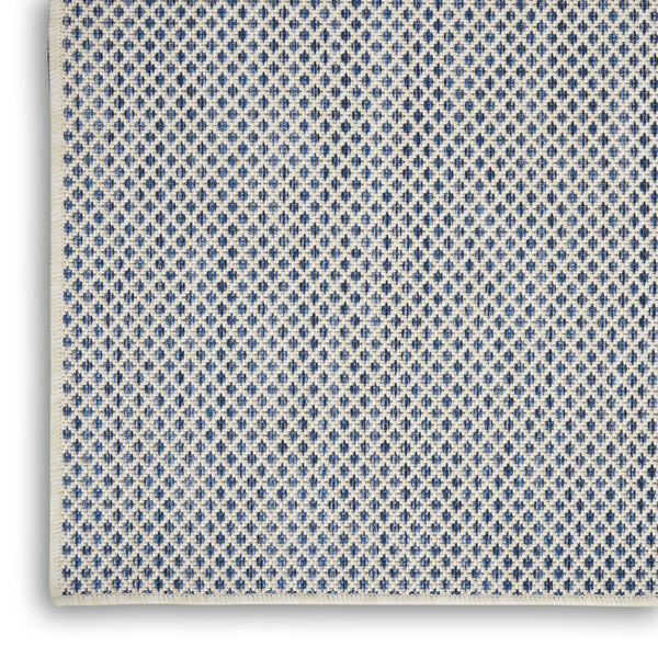 Courtyard Ivory and Blue 4 Ft. x 6 Ft. Rectangle Indoor/Outdoor Area Rug, image 5