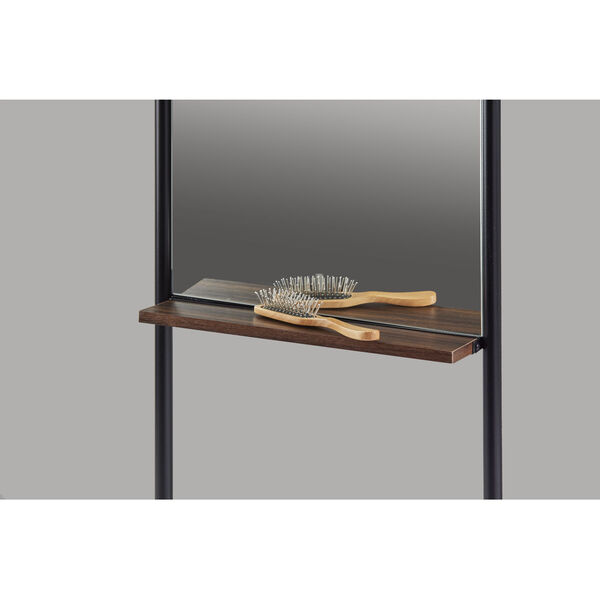 Monty Black and Walnut Leaning Mirror, image 5
