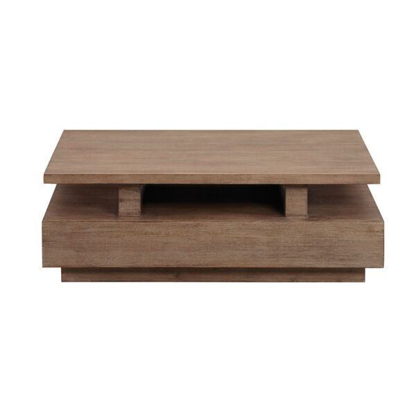 Slade Natural Rectangular Cocktail Table with casters, image 2