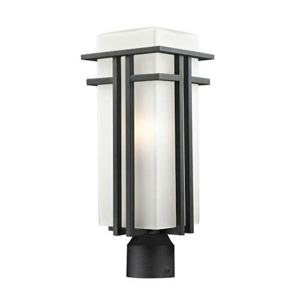 Abbey Black Outdoor Post Light, image 1