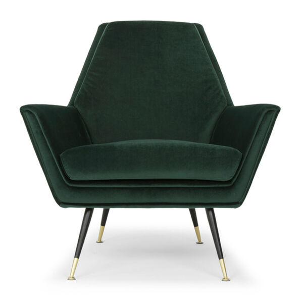 Vanessa Emerald Green and Black Occasional Chair, image 2