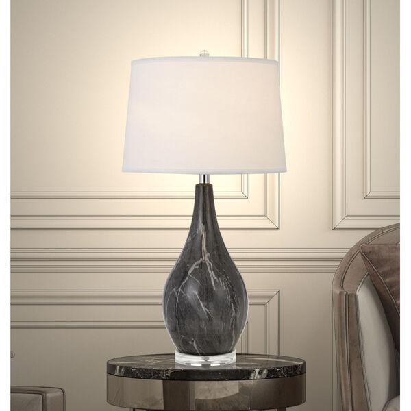 Emden Black and White One-Light Table lamp, image 2