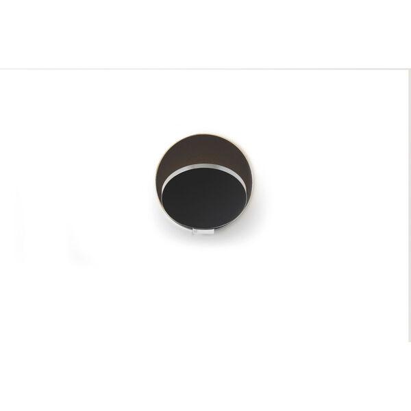 Gravy Chrome Metallic Black LED Plug-In Wall Sconce, image 1