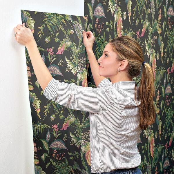 Ashford House Tropics Black and Green Fiji Garden Wallpaper, image 4