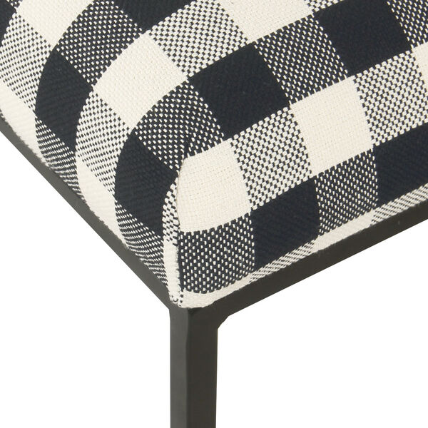 Black and White 22-Inch Ottoman, image 6