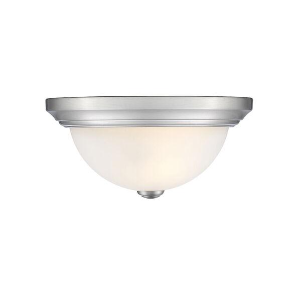Chrome 11-Inch Two-Light Flush Mount, image 1