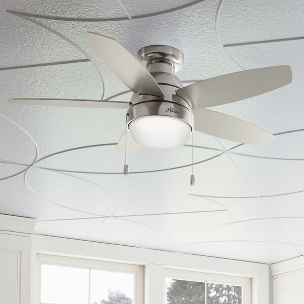 Lilliana Brushed Nickel 44-Inch Two-Light LED Ceiling Fan, image 5