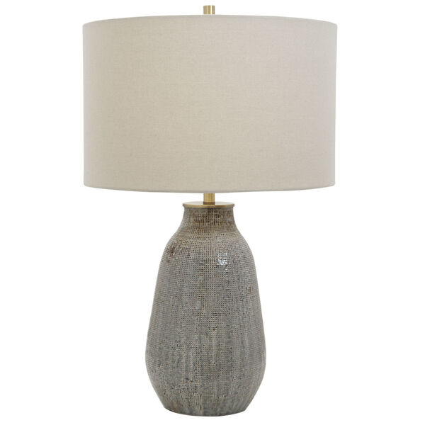 Monacan Gray One-Light Textured Table Lamp, image 1