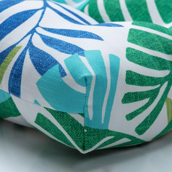 Islamorada Blue and Green 52-Inch Tufted Bench CUshion, image 2