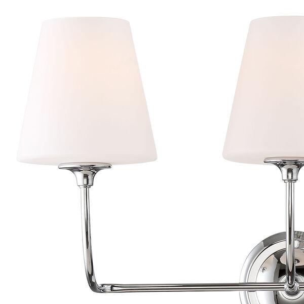 Sylvan Three-Light Polished Nickel Bath Light, image 3