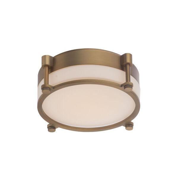 Wright Aged Brass 14-Inch LED Flush Mount, image 1
