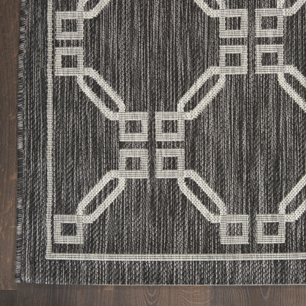 Garden Party Charcoal and Gray 7 Ft. x 10 Ft. Rectangle Indoor/Outdoor Area Rug, image 4
