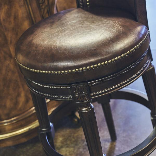 Chapman Distressed Walnut 30-Inch Bar Height Swivel Stool, image 2