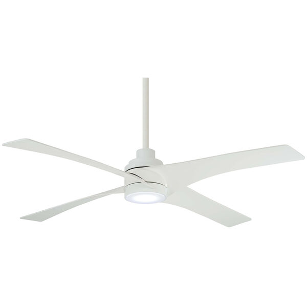 Swept Flat White LED Ceiling Fan, image 1