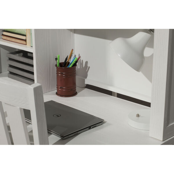 Highlands White Desk With Hutch, image 3