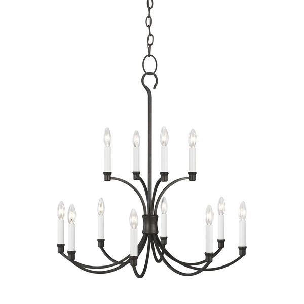 Westerly Smith Steel 29-Inch 12-Light Chandelier, image 2