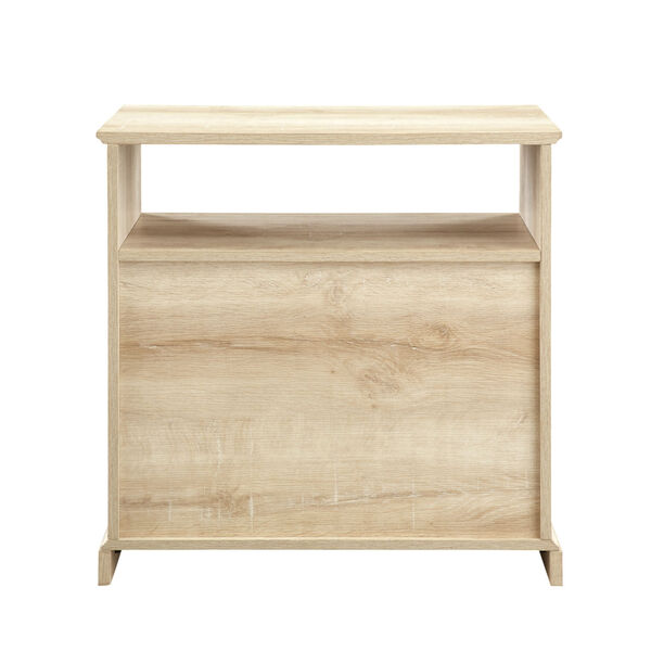 Clyde White Oak Nightstand with Two Drawers, image 6