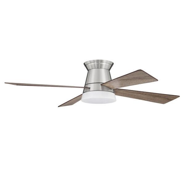 Revello Brushed Polished Nickel 52-Inch LED Ceiling Fan, image 1