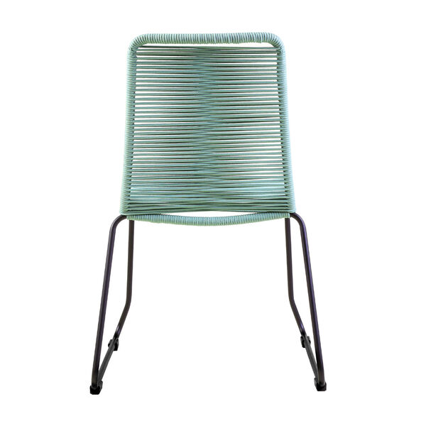 Shasta Black Wasabi Outdoor Dining Chair, Set of Two, image 4