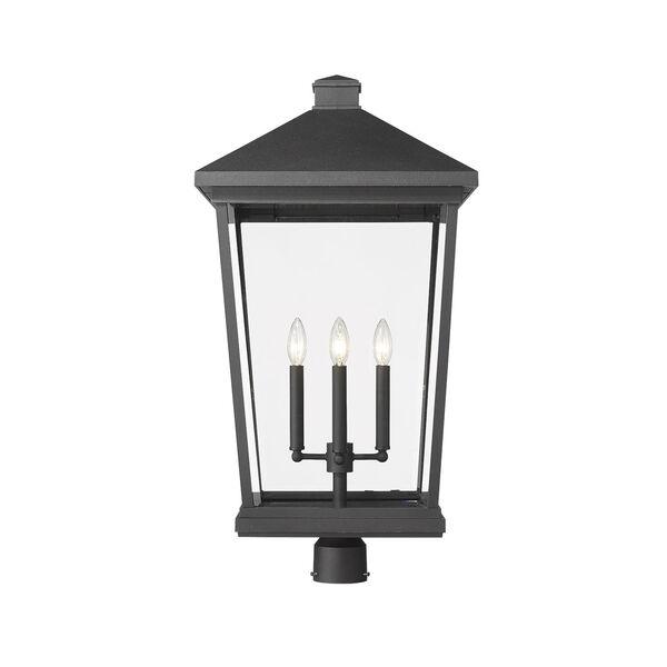 Beacon Black 31-Inch Three-Light Outdoor Post Mount, image 2