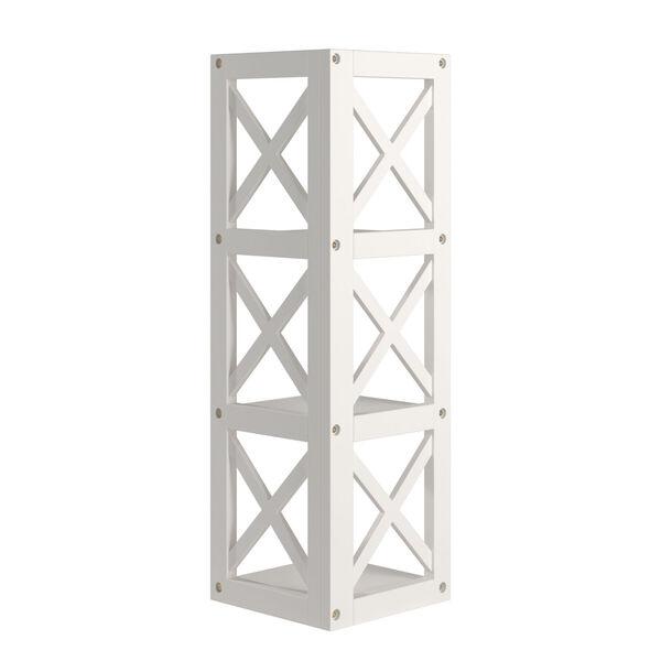 Tanya White X-Frame Three-Shelve Bookcase, image 4