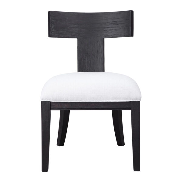Idris Charcoal Black Accent Chair, image 1