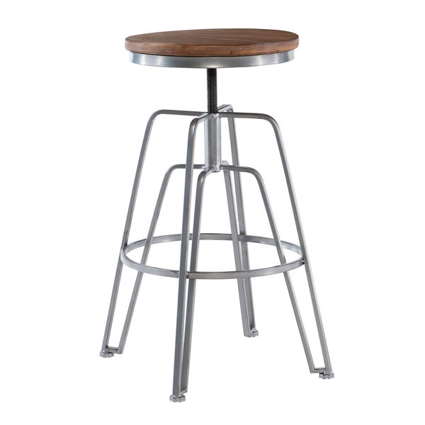 Rowan Silver Adjustable Bar Stool, image 5