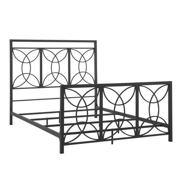 Morty Black Metal Queen Bed, image 1