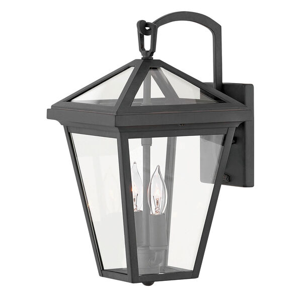 Alford Place Museum Black Two-Light Outdoor Small Wall Mount, image 1