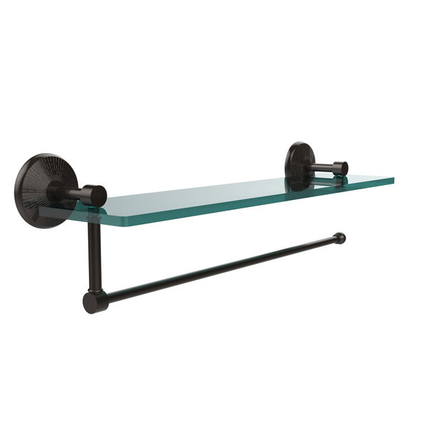Prestige Monte Carlo Collection Paper Towel Holder with 22 Inch Glass Shelf, Oil Rubbed Bronze, image 1