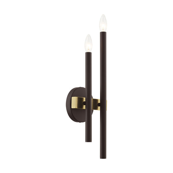 Denmark Bronze and Antique Brass Four-Light  Wall Sconce, image 6