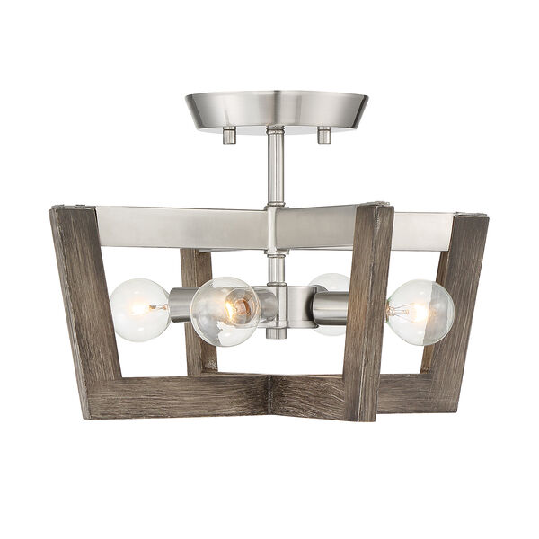 Westend Satin Platinum Four-Light Semi-Flush, image 4
